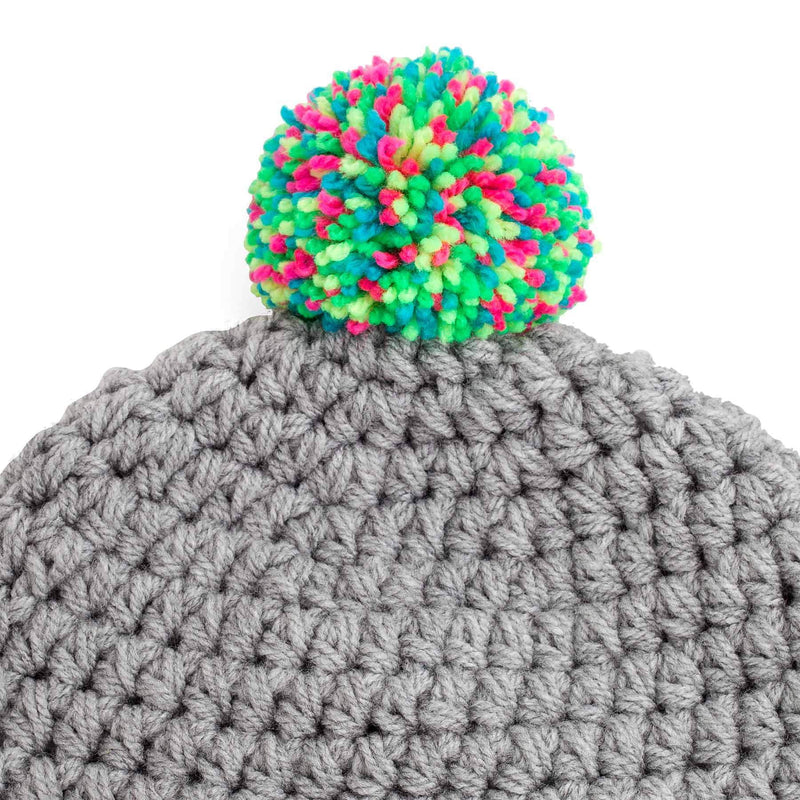 CROCHETED POM BEANIE BC light short - richard-woox