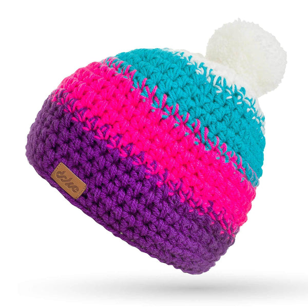 CROCHETED POM BEANIE tina - richard-woox