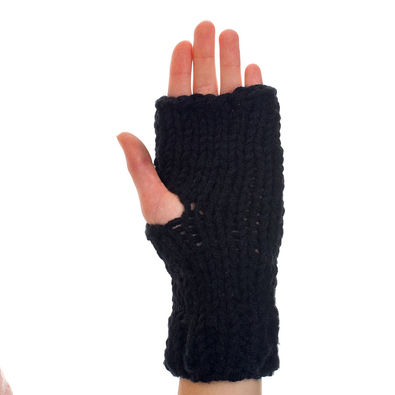 Knitted Hand Warmer black - richard-woox