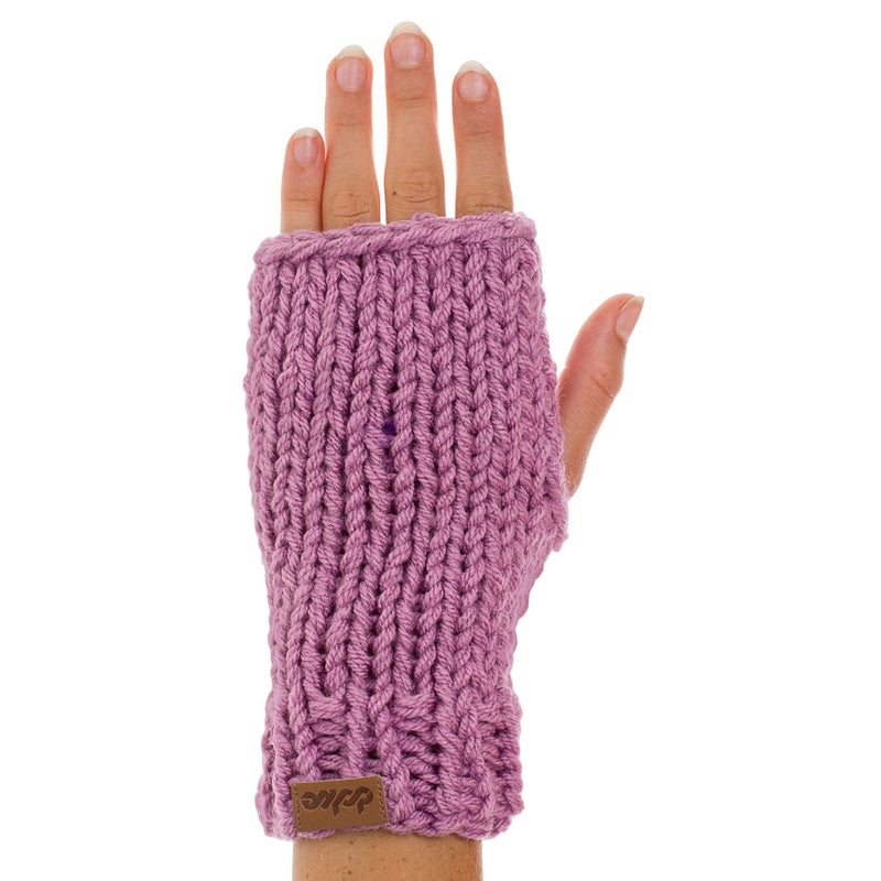 KNITTED HAND WARMER lilac - richard-woox