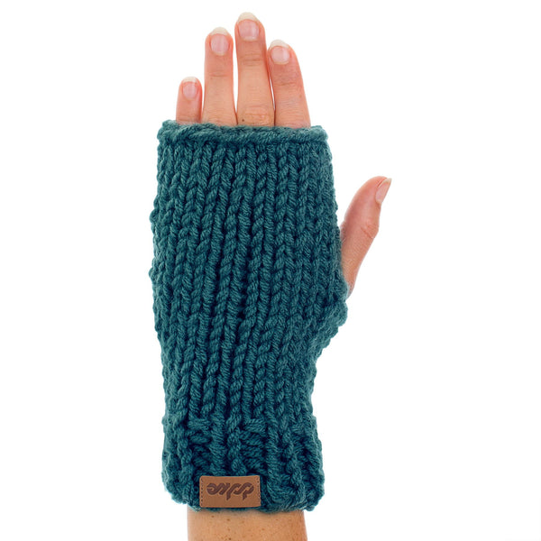 KNITTED HAND WARMER pine - richard-woox