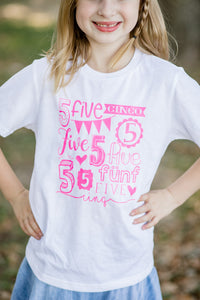 5th  BIRTHDAY-MY YEAR GIRLS Children's T Shirt