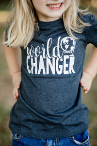 WORLD CHANGER-GLOBE Youth T Shirt