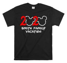 2020 DISNEY PERSONALIZED FAMILY VACATION-All Sizes Black T