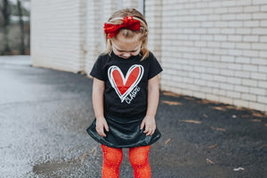DOODLE HEART WITH NAME Youth Valentine T Shirt