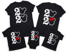 2020 DISNEY FAMILY VACATION-All Sizes Black T