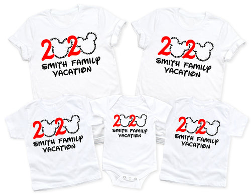 2020 DISNEY PERSONALIZED FAMILY VACATION-All Sizes White T