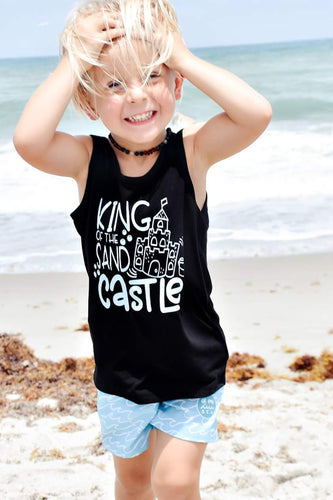 KING OF THE SAND CASTLE Boys Summer Tank