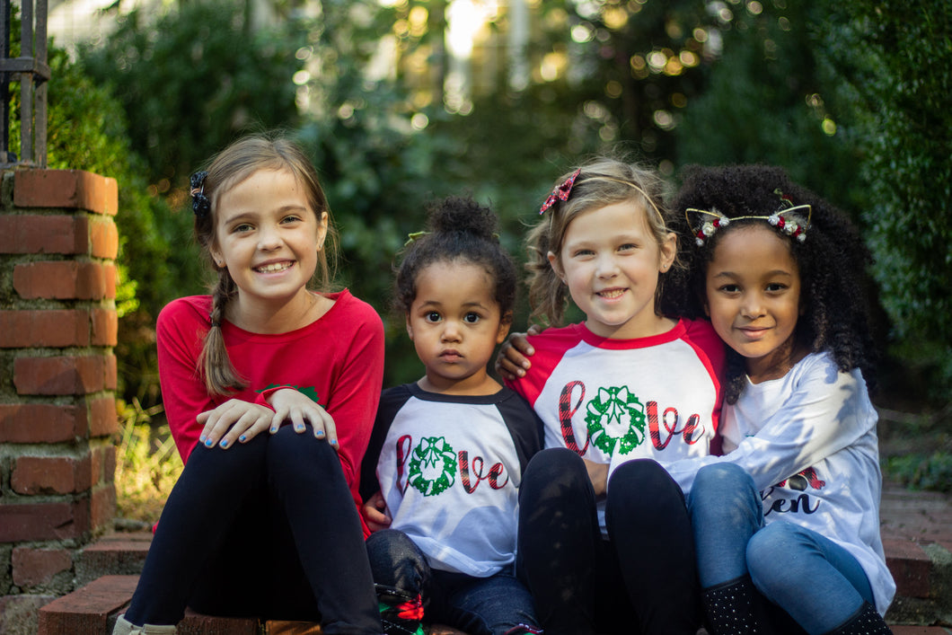 LOVE CHRISTMAS Youth Holiday Raglan