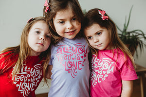 ALL YOU NEED IS LOVE Youth Valentine T Shirt
