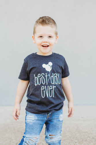 BEST DAY EVER WITH BALLOON Boys Disney T Shirt