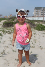 FLAMINGO PERSONALIZED Girls Summer Tank