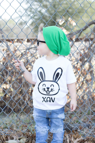 EASTER BUNNY Black and White Youth Easter T Shirt