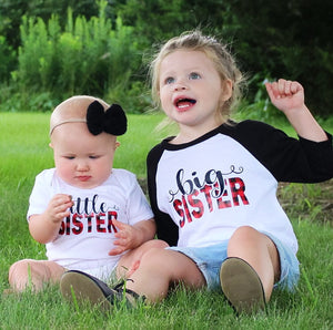 SIBLING SET BUFFALO PLAID Infant Bodysuit and Youth Raglan