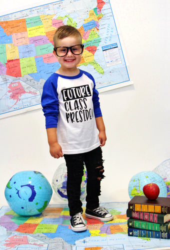 FUTURE CLASS PRESIDENT Youth Raglan Shirt