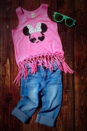 MINNIE WITH SUNGLASSES  Disney Fringe Tank