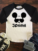 MICKEY WITH SHADES Youth Disney Raglan