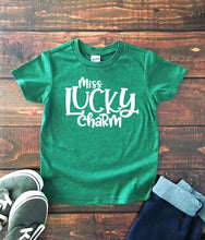 Miss Lucky Charm Girls St. Patrick's T Shirt