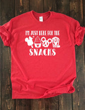 I'M JUST HERE FOR THE SNACKS (horizontal) Adult Disney T Shirt