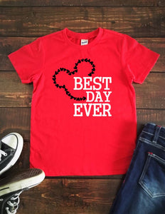BEST DAY EVER Youth Disney T Shirt