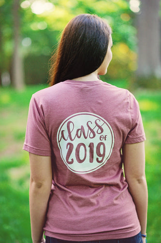 CLASS OF 2019/2020 CIRCLE...Young Adult T Shirt (Mauve)