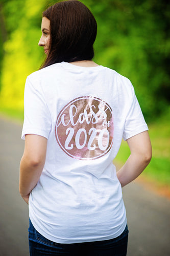 CLASS OF 2019/2020 CIRCLE...Young Adult T Shirt (White)