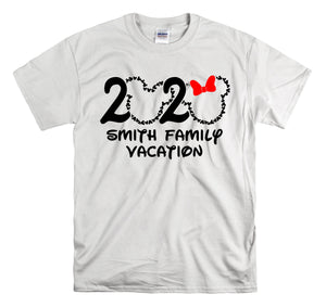 2020 DISNEY PERSONALIZED FAMILY VACATION Mickey and Minnie-All Sizes White T