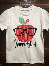 APPLE PERSONALIZED-WHITE Youth T Shirt