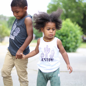 CACTUS PERSONALIZED Boys Summer Tank