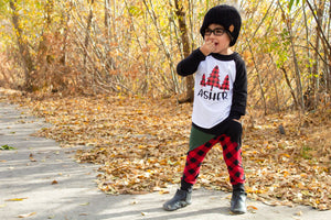 CHRISTMAS TREES PERSONALIZED Youth Holiday Raglan