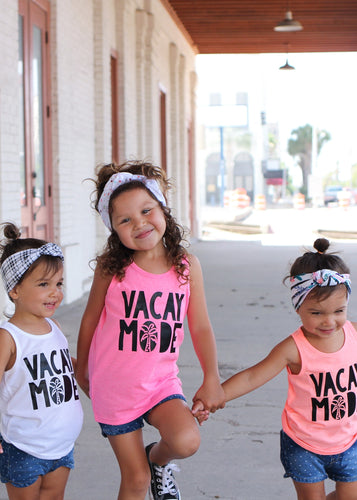VACAY MODE Children's Summer Tank