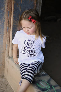 LOVE GOD. LOVE PEOPLE. THE END-CURSIVE Youth T Shirt
