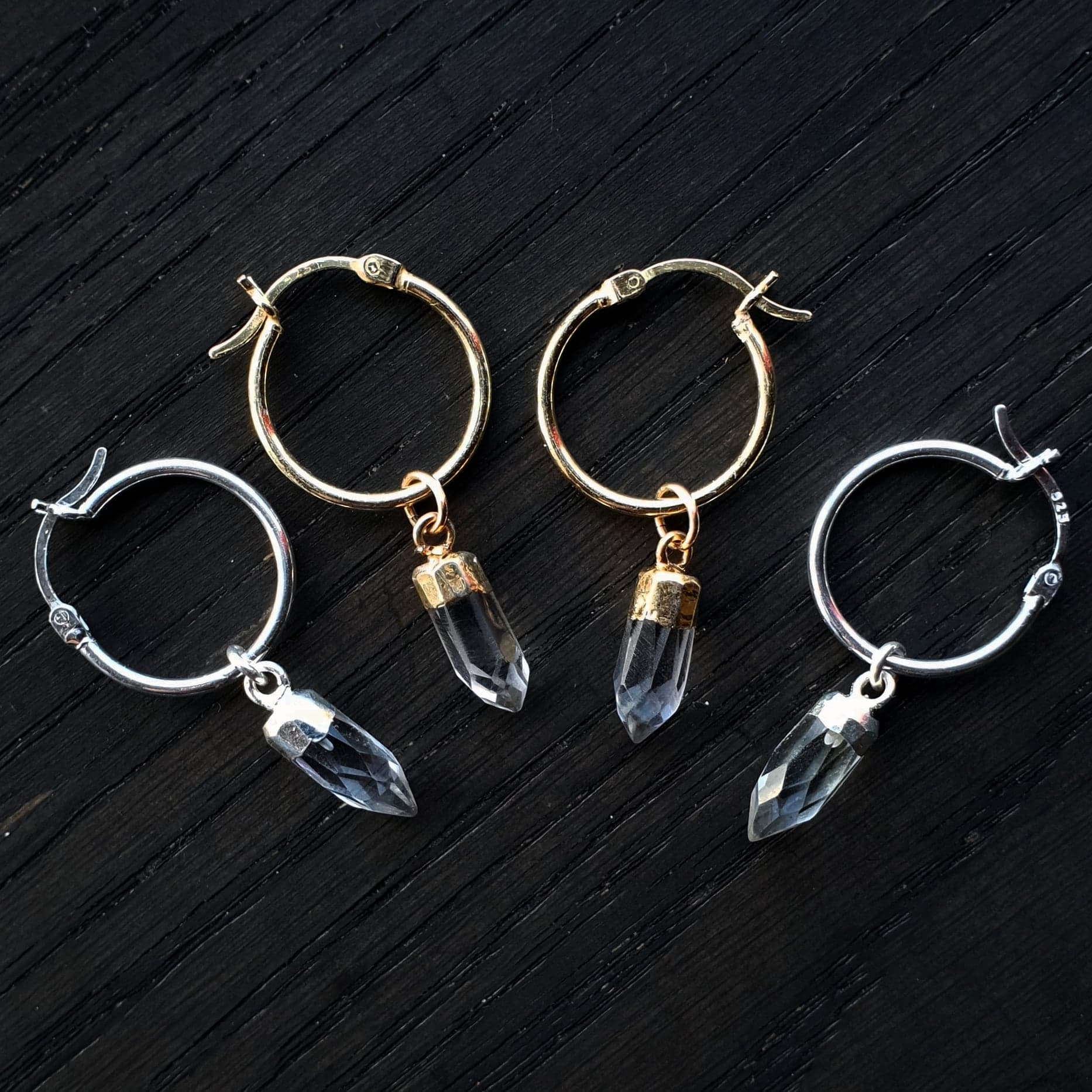 Emily Eliza Arlotte Handcrafted Fine Jewellery - Handmade Australian Tasmanian Jewelry Ethically Made Sustainable Recycled Sterling Silver Gold Quartz Labradorite Onyx Gemstone Crystal Hoop Charm Earrings Contemporary Dainty Statement Unique Trendy Modern Necklace Boho Bohemian Gypsy Witchy Alternative Style Festival Fashion Shop Online Boutique