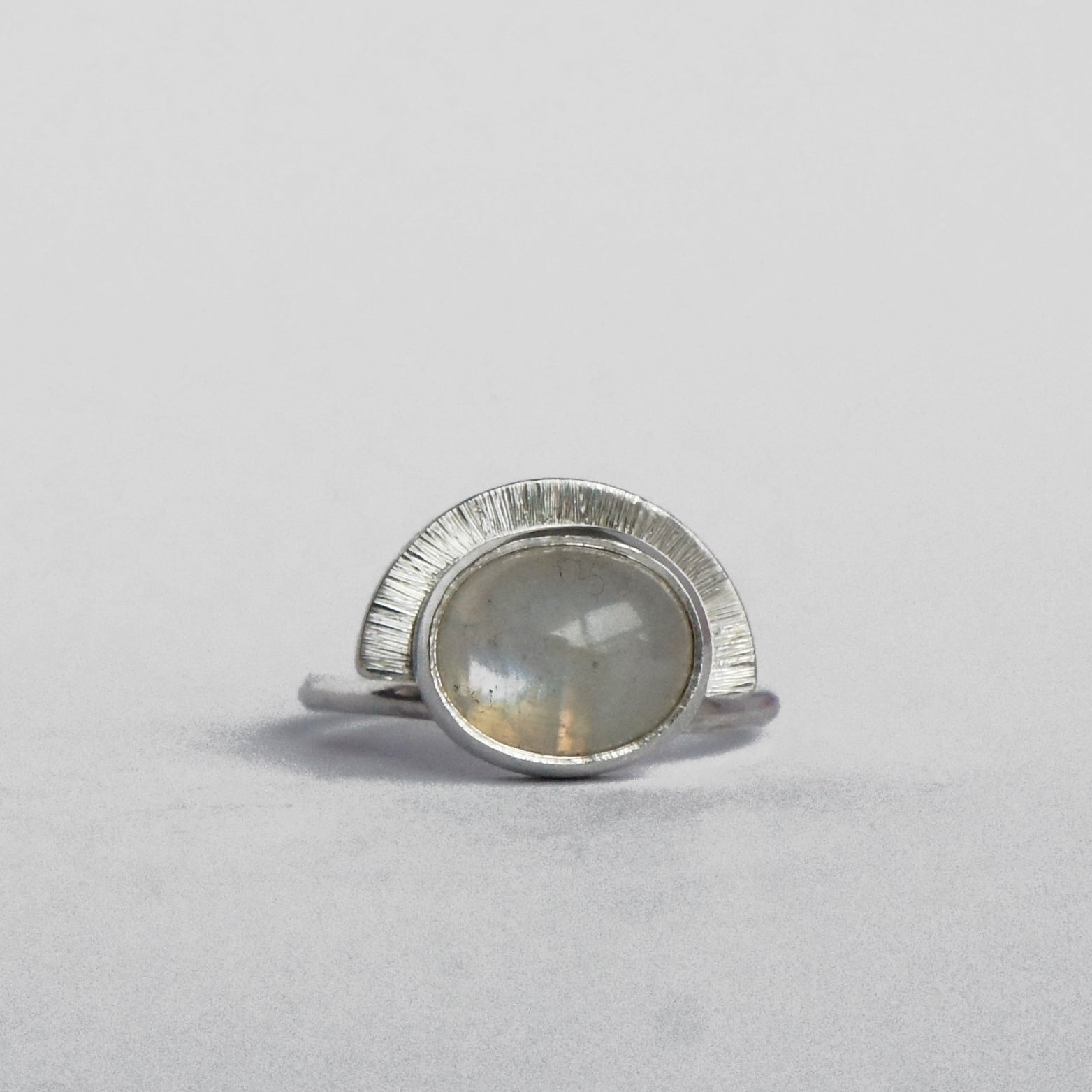 Moonstone Shield Ring