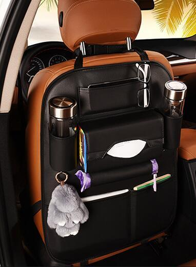 Faux Leather Car Backseat Organizer