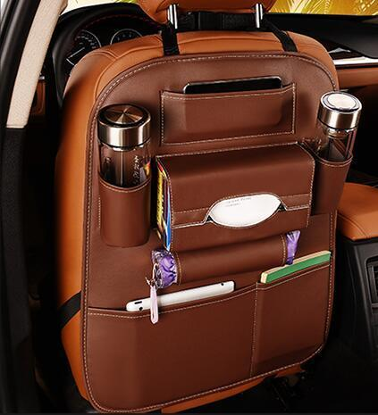 Image of Faux Leather Car Backseat Organizer