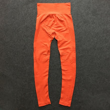 Load image into Gallery viewer, Orange gym pants for workout /yoga -seamless leggings