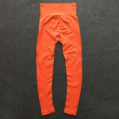 Orange gym pants for workout /yoga -seamless leggings