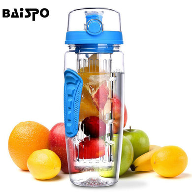 Blue Detox Water Bottle & Fruit Infuser