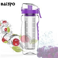 Purple Detox Water Bottle & Fruit Infuser