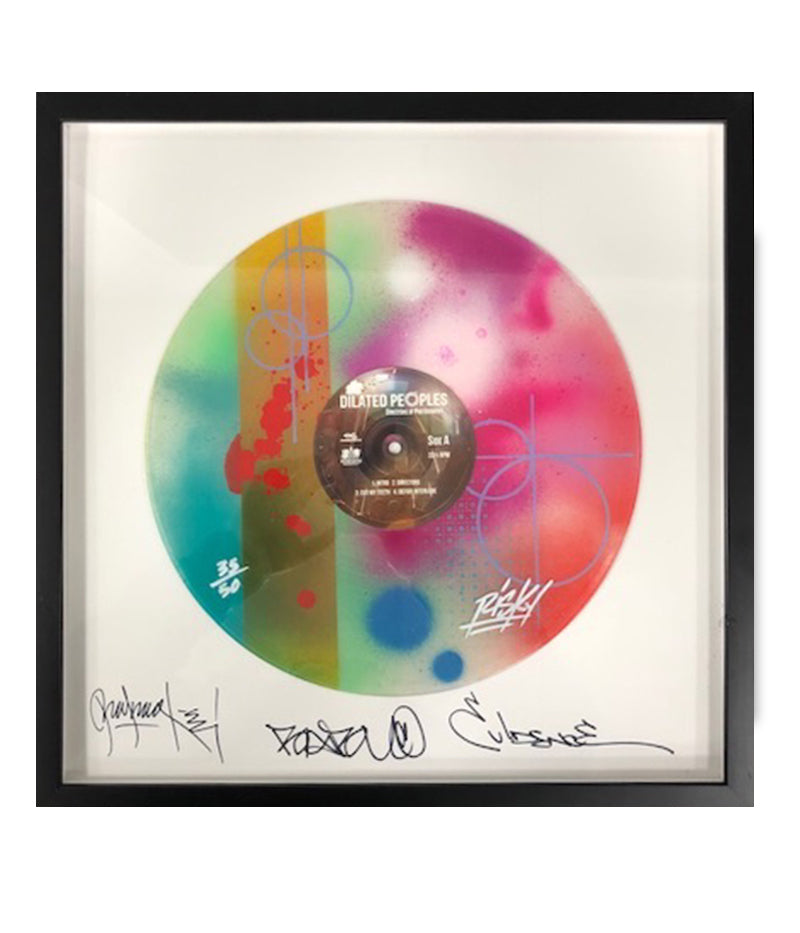 Risk - Dilated Peoples: Signed Framed Vinyl