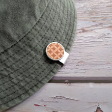 Load image into Gallery viewer, Check Pattern - Silver Clip - birdea golf ball marker