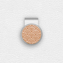 Load image into Gallery viewer, Japanese Wave - Silver Clip - birdea golf ball marker