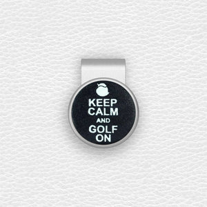 Keep Calm and Golf On - Silver Clip - birdea golf ball marker