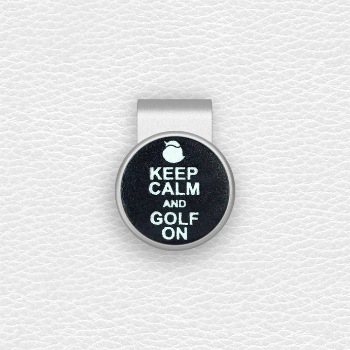 Keep Calm and Golf On - Silver Clip - birdea