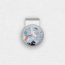 Load image into Gallery viewer, Japanese Crane - Silver Clip - birdea golf ball marker