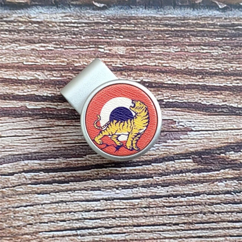 Tiger - Silver Clip - birdea golf ball marker