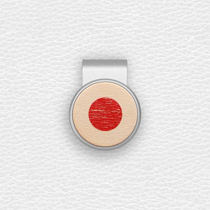 Japanese Flag - Silver Clip - birdea golf ball marker