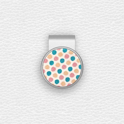 Color Dots - Silver Clip - birdea golf ball marker