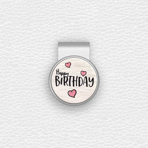 Happy Birthday - Silver Clip - birdea golf ball marker